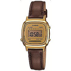 Электронные часы Casio Collection La670wegl-9e Gold/Brown