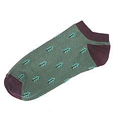 Носки низкие Запорожец Ёлки Зеленый