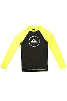 Гидрофутболка детская Quiksilver Lock Up Boy Ls Black/Safety Yellow
