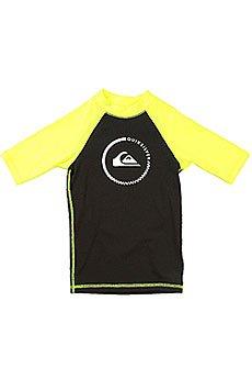 Гидрофутболка детская Quiksilver Lock Up Boy Ss Black/Safety Yellow
