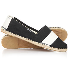 Эспадрильи женские Soludos Original Stripe Print Black/White