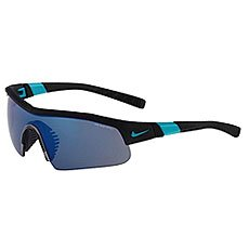 Очки Nike Optics Show X1 R Matte Black/Turbo Green + Grey /Sky Blue Flash Lens
