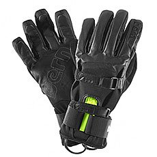 Перчатки сноубордические Bern Black Leather Gloves W Removable Wristguard Black