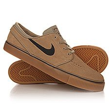 Кеды низкие Nike Zoom Stefan Janoski Khaki/Black Gum/Light Brown