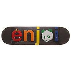 Дека для скейтборда Enjoi S6 Spectrum V2 No Brainer Hyb Black 31.7 x 8.25 (21 см)