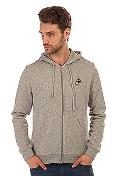 Толстовка классическая Le Coq Sportif Ailier Fz Hood Unbr Light Heather Grey