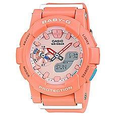 Кварцевые часы женские Casio Baby-g BGA-185-4A Pink/Orange