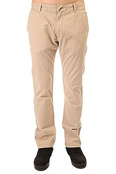 Штаны прямые Quiksilver Everyday Chino Plaza Taupe