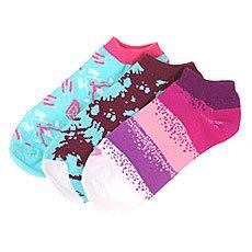 Комплект носков женский Roxy 3pk Tie Dye Grunge Multi