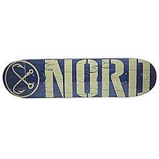 Дека для скейтборда Nord Logo Blue/Beige 31.75 x 8 (20.3 см)