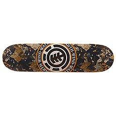 Дека для скейтборда Element Seal Seasonal Dpm Black/Orange 31.5 x 8 (20.3 см)