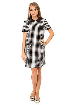 Платье женское Fred Perry A Line Gingham Dress White/Black