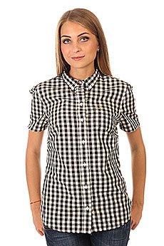 Рубашка в клетку женская Fred Perry Gingham Shirt Black/White