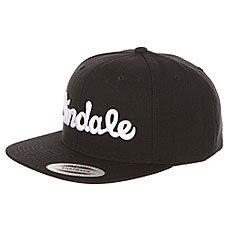 Бейсболка с прямым козырьком Andale Script Snap Back Black