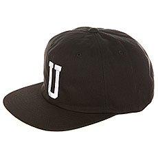 Бейсболка с прямым козырьком Undefeated U Strapback Cap Black