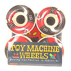 Колеса для скейтборда Toy Machine Monsters Red/Blac/White 100A 51 mm