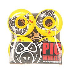 Колеса для скейтборда Pig Head Yellow 100A 54 mm