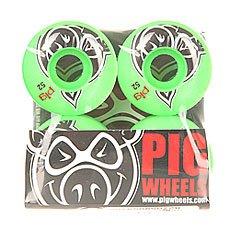 Колеса для скейтборда Pig Head Green 100A 52 mm