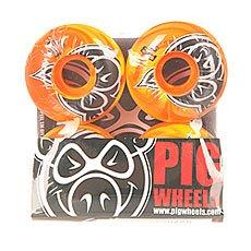 Колеса для скейтборда Pig Head Swirls New Orange 100A 53 mm