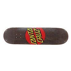 Дека для скейтборда Santa Cruz S6 Classic Dot Black 31.8 x 8.25 (21 см)