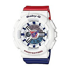 Кварцевые часы женские Casio G-Shock Baby-g Ba-110tr-7a White/Blue/Red