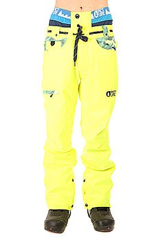 Штаны сноубордические Picture Organic Shred Camo Pant Fluo Yellow