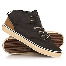 Кеды утепленные Globe Motley Mid Fur Black/Golden Brown