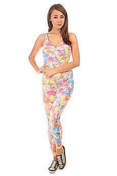 Комбинезон для фитнеса женский CajuBrasil Su Cigarette Multi/Pink/Light Blue