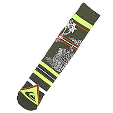 Носки средние Quiksilver Frontboarder Knitted Crew Bd Green