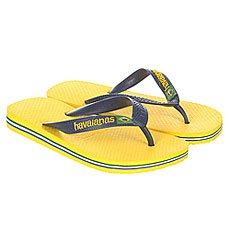 Вьетнамки детские Havaianas Brasil Logo Yellow