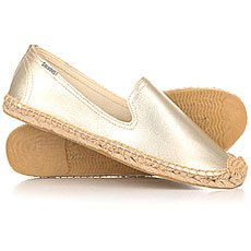 Слипоны женские Soludos Smoking Slipper Leather Metallic Platinum