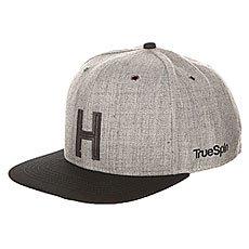 Бейсболка с прямым козырьком TrueSpin Abc Snapback Dark Grey/Black Leather-h