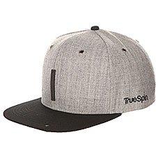 Бейсболка с прямым козырьком TrueSpin Abc Snapback Dark Grey/Black Leather-i