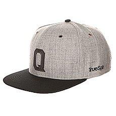 Бейсболка с прямым козырьком TrueSpin Abc Snapback Dark Grey/Black Leather-q