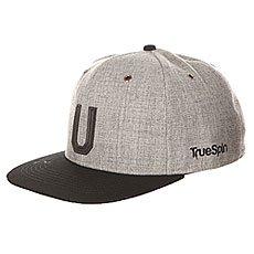 Бейсболка с прямым козырьком TrueSpin Abc Snapback Dark Grey/Black Leather-u