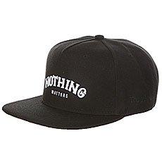 Бейсболка с прямым козырьком TrueSpin Nothing Mattars Black