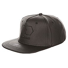 Бейсболка с прямым козырьком TrueSpin Riddled Strapback Black