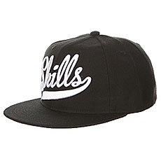 Бейсболка с прямым козырьком Skills 01 Black/White