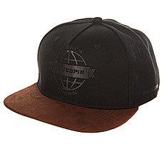 Бейсболка с прямым козырьком TrueSpin Globe Black