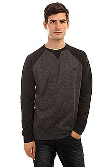 Толстовка свитшот Quiksilver Everydaycrew Dark Grey Heather