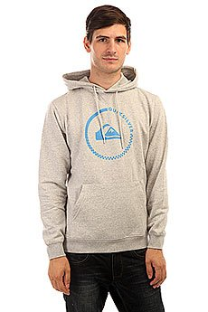 Толстовка кенгуру Quiksilver Big Logo Hood Light Real Grey Heather