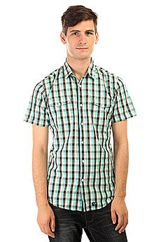 Рубашка в клетку Globe Attfield Short Sleeve Shirt Aqua