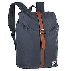 Рюкзак городской Herschel Post Mid Volume Navy/Tan Synthetic Leather