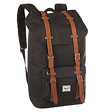 Рюкзак туристический Herschel Little America Black/Tan Synthetic Leather