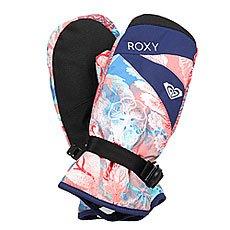 Варежки сноубордические женские Roxy Rx Jetty Mitt Undersea Camellia