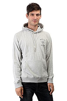 Толстовка кенгуру Quiksilver Tr Rice Hoody Light Grey Heather