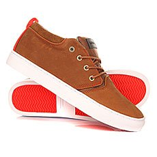 Кеды высокие Quiksilver Griffin Brown/Orange