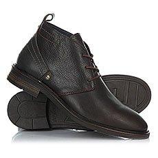 Ботинки высокие Wrangler Roll Desert Leather Dark Brown