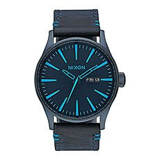 Кварцевые часы Nixon Sentry Leather All Dark Bluee