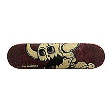 Дека для скейтборда Toy Machine Vice Dead Monster Burgundy/Beige 31.75 x 8.25 (21 см)